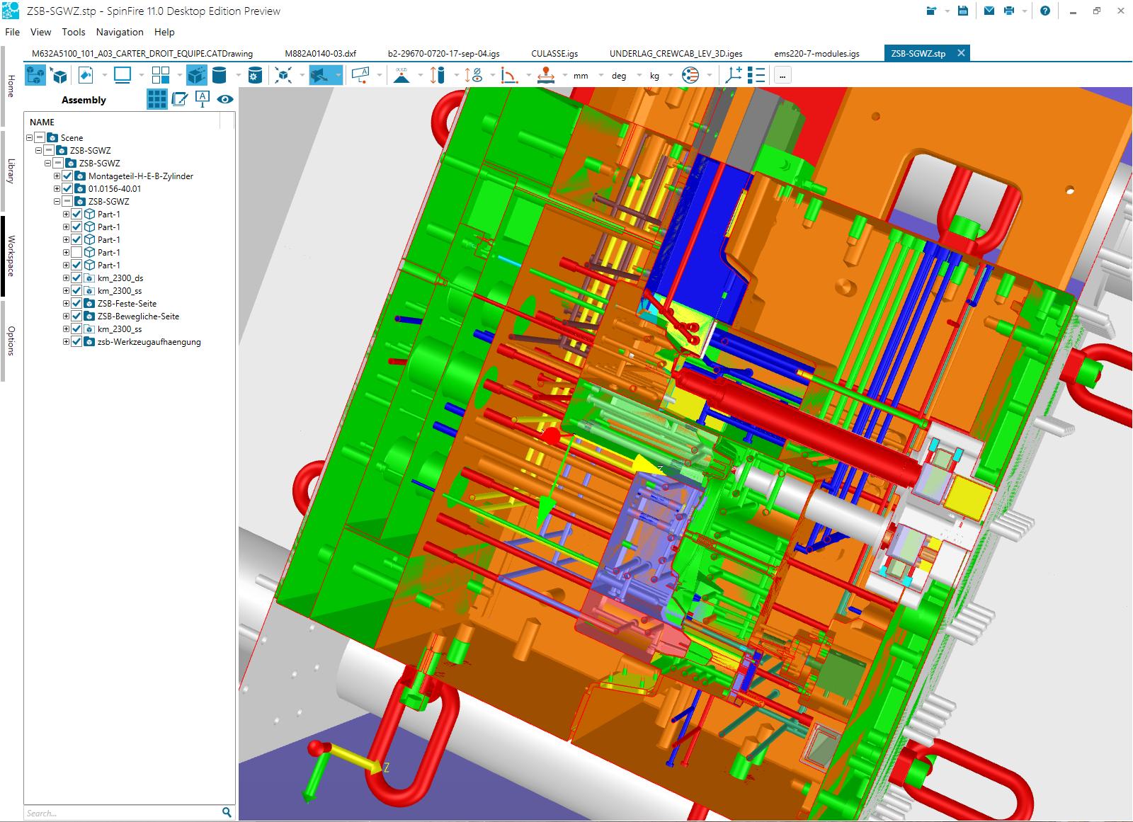 SpinFire - Visualisation et impression 3D de fichiers CAO natifs
